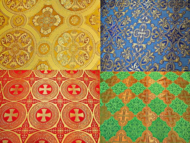 Греческая ткань церковной тематики от производителя (6)