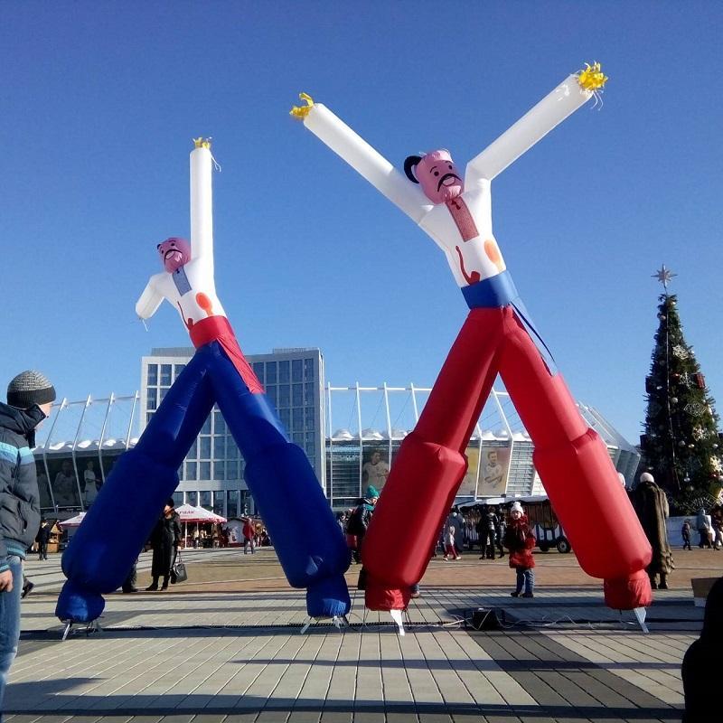 Аэромены - надувные танцующие человечки. Неподвижные человечки (3)