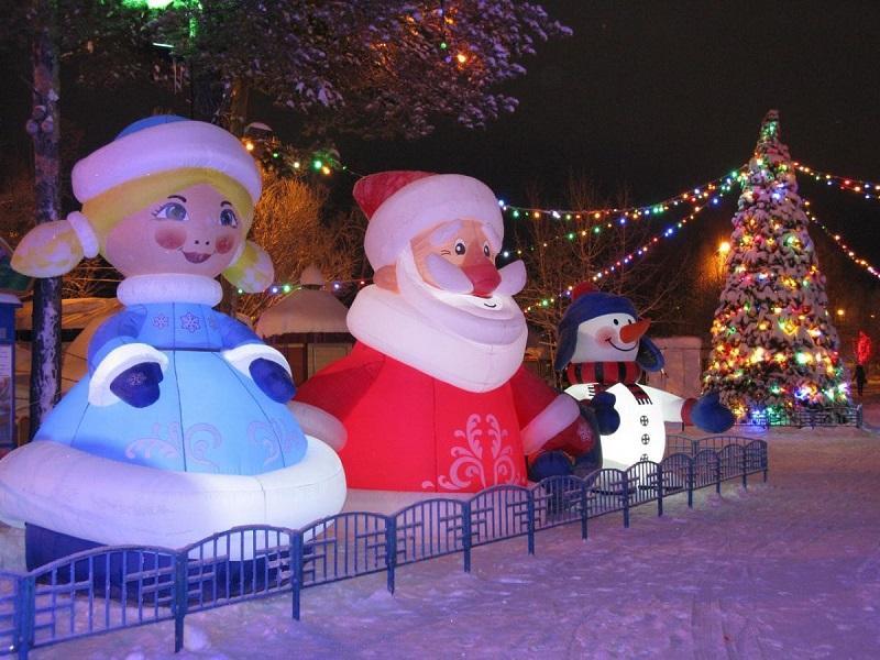 Надувные новогодние фигуры Inflatable Christmas Shapes (6)