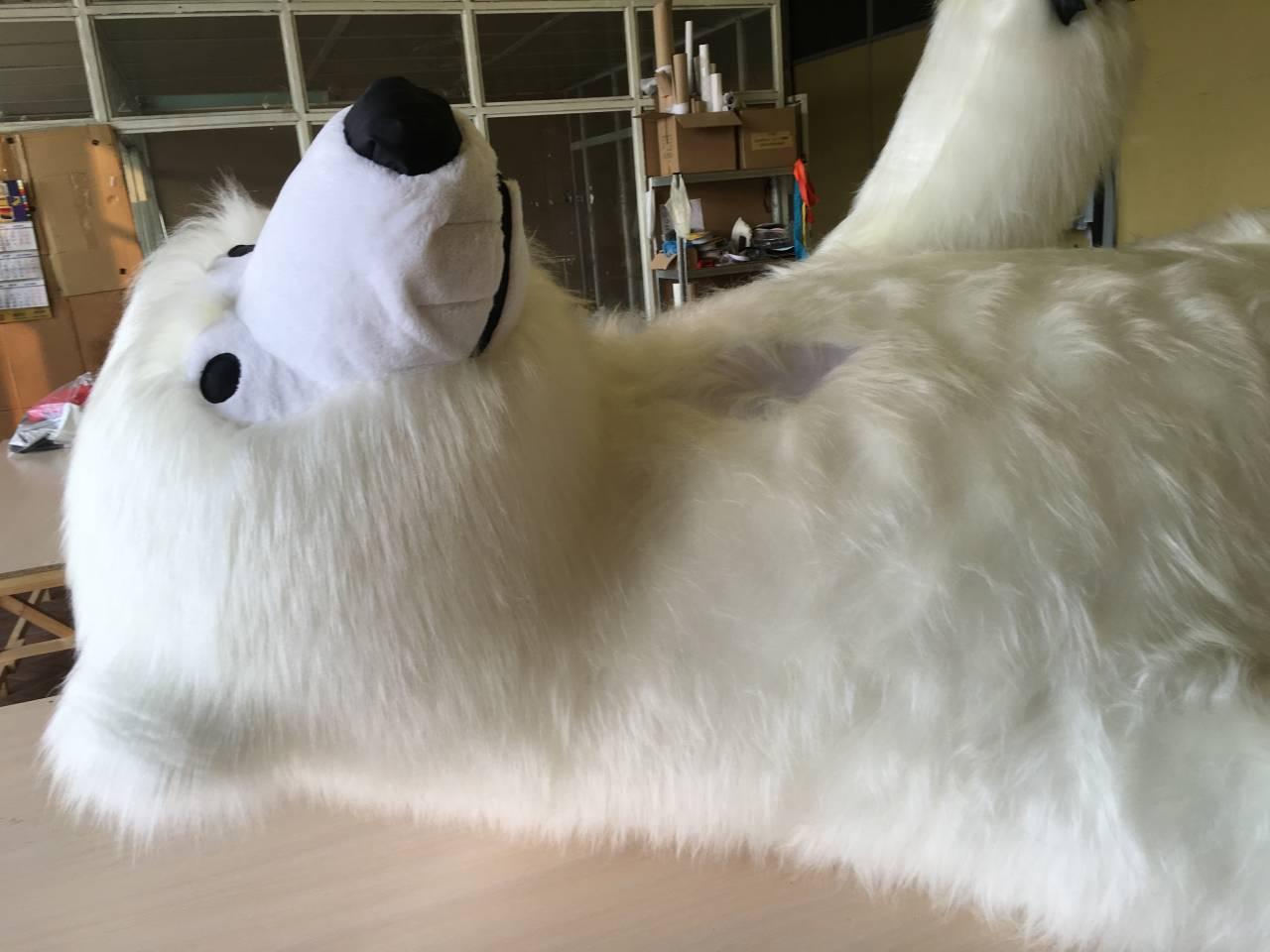Надувной костюм Мишка белый Inflatable costumes (2)
