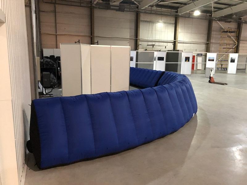 Надувной забор Inflatable fence пит-уолл (3)
