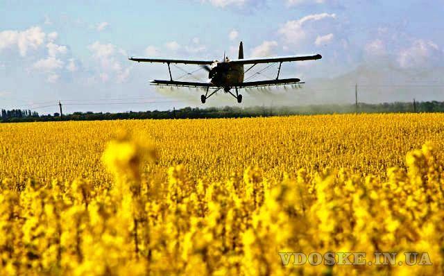 Авіаобробка ріпаку пшениці сої кукурудзи гвинтокрилом дельтапланом самольотом (2)
