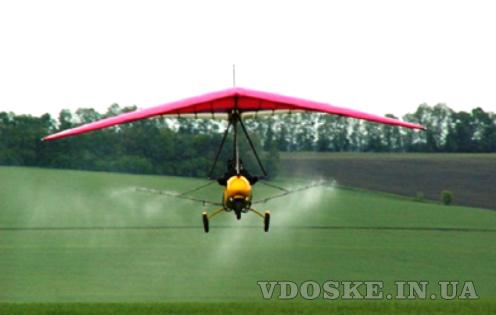 Авіаобробка ріпаку пшениці сої кукурудзи гвинтокрилом дельтапланом самольотом (4)