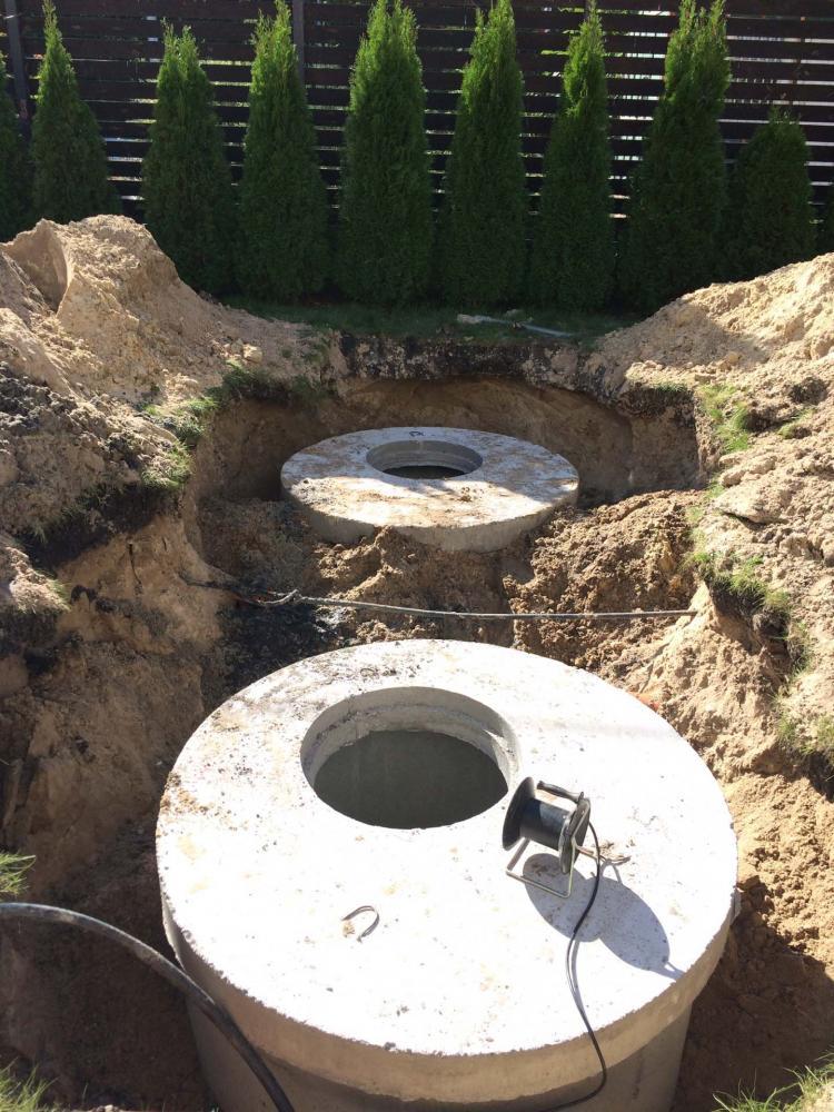 Канализация дома из бетонных колец (3)