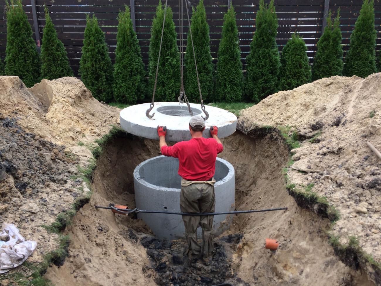 Канализация дома из бетонных колец (2)