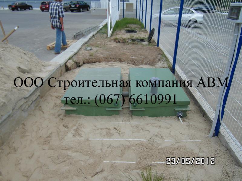 Канализация коттеджного поселка Киев Киевская область (6)