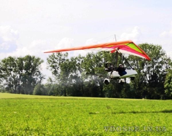 Гербицидная авиаобработка пшеницы ячменя дельтапланом самолетом (2)