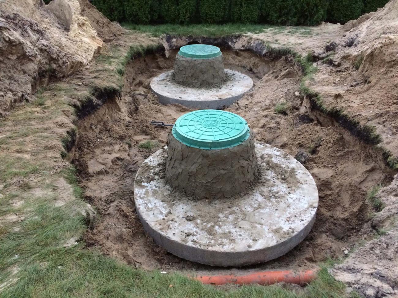 Септик из бетонных колец (3)