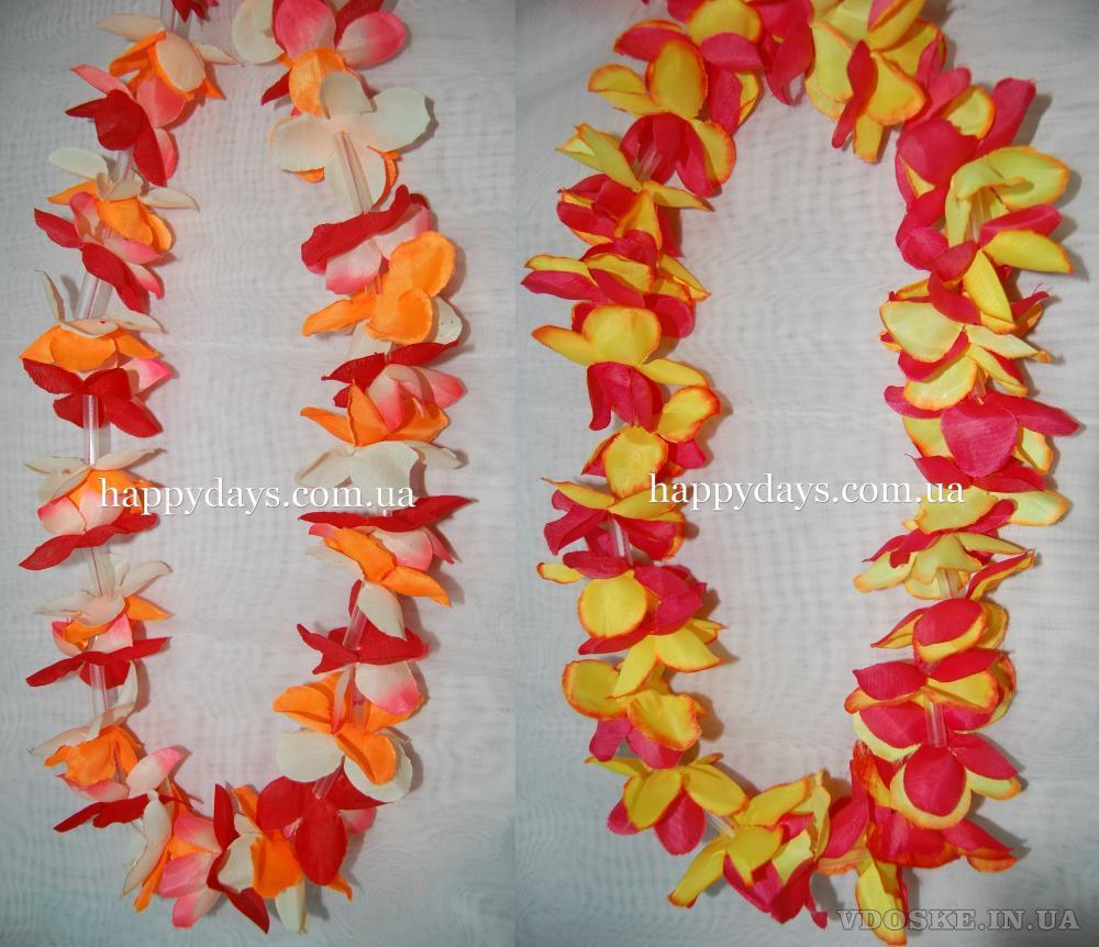 Гавайские лейсы, леи. Весенний декор (6)