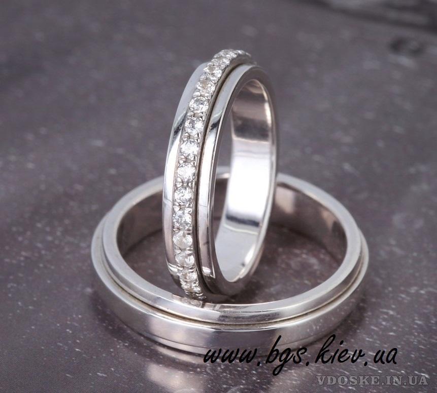 Обручальные кольца из белого золота (4)