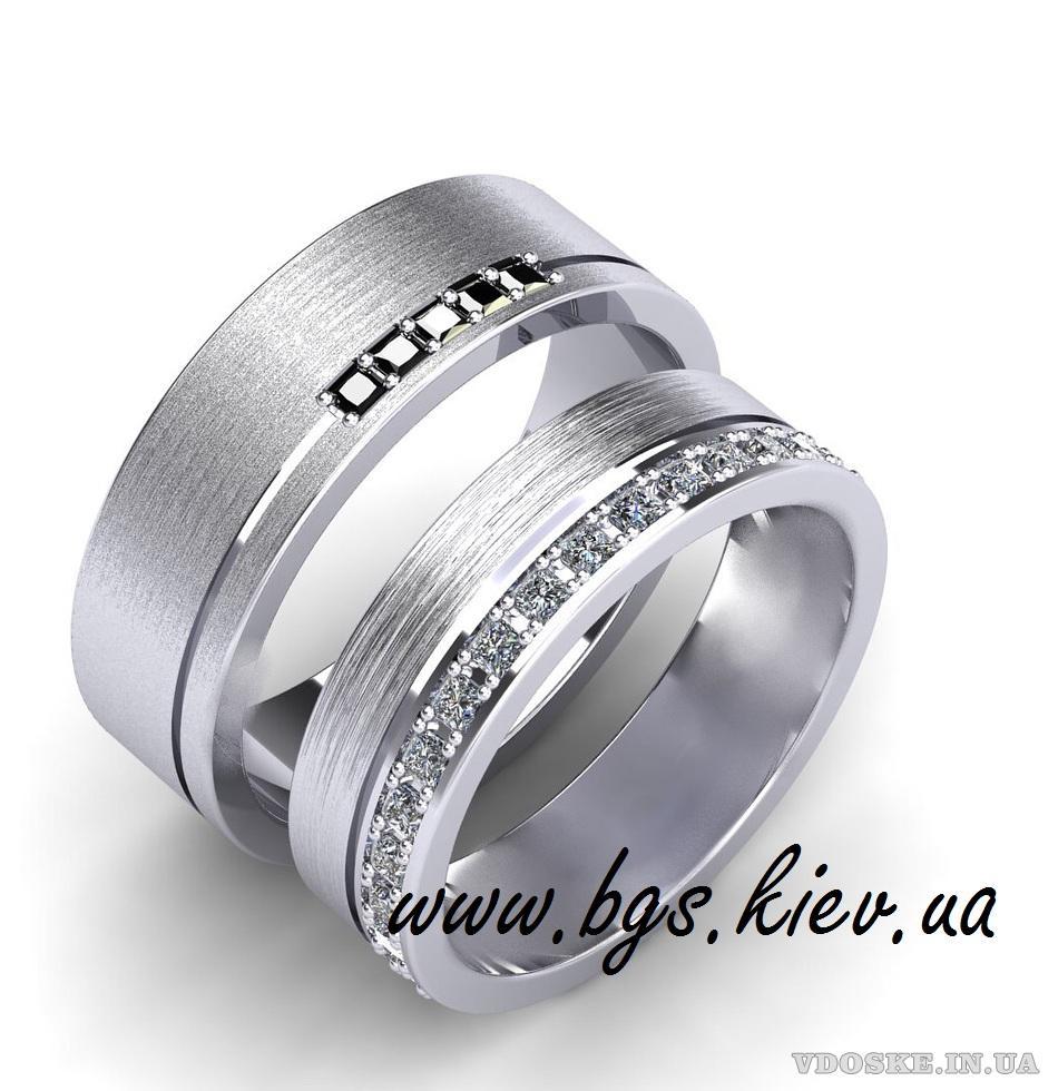 Обручальные кольца из белого золота (2)