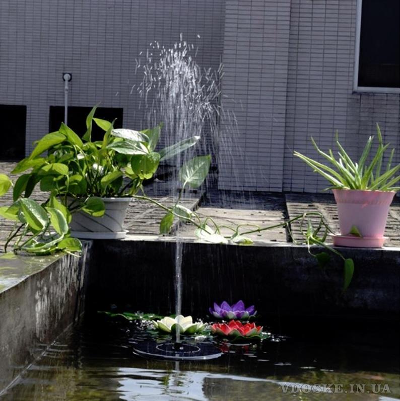 Садовый фонтанчик на солнечной энергии (3)