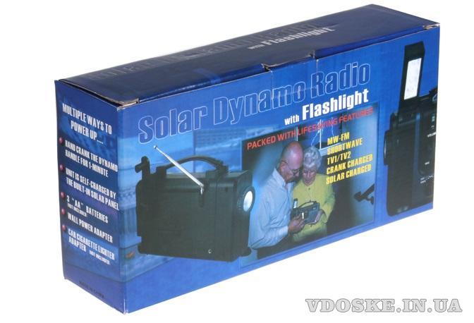 Радиоприемник на солнечных батареях с фонарем и сиреной (6)