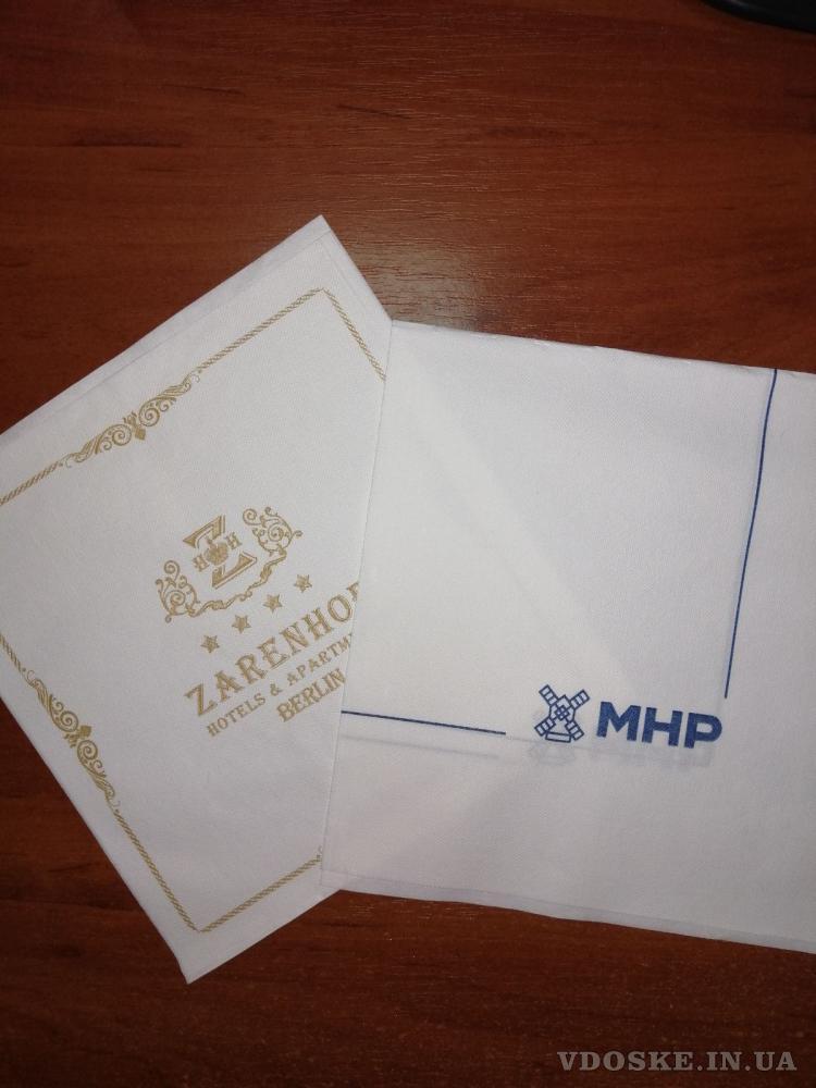 """Салфетки и крафтовые  пакеты """"соше"""" от производителя с логотипом Вашей компании (2)"""