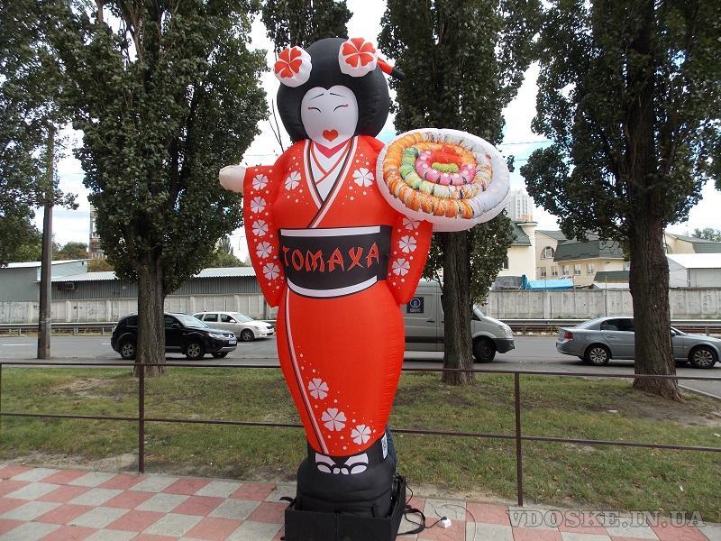 Надувная японка зазывала для суши баров (3)