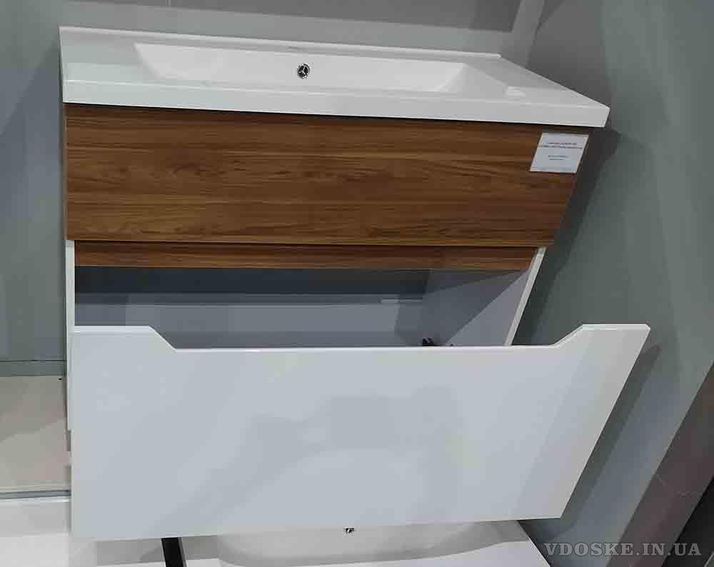 Подвесная тумба с умывальником 70 см. Комплект подвесной мебели - Колибри (6)