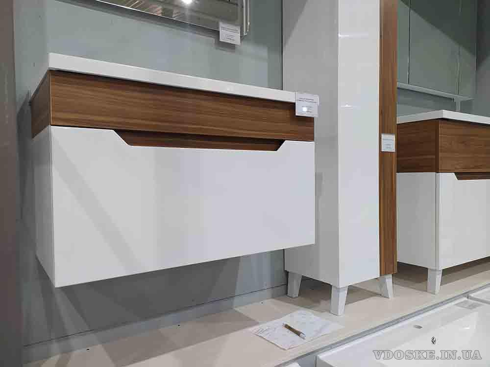 Подвесная тумба с умывальником 70 см. Комплект подвесной мебели - Колибри (4)