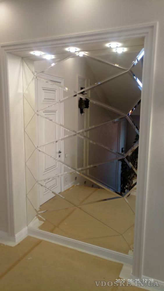 Зеркала, стекло в изделиях для мебели. ПАННО.  Монтаж. (4)