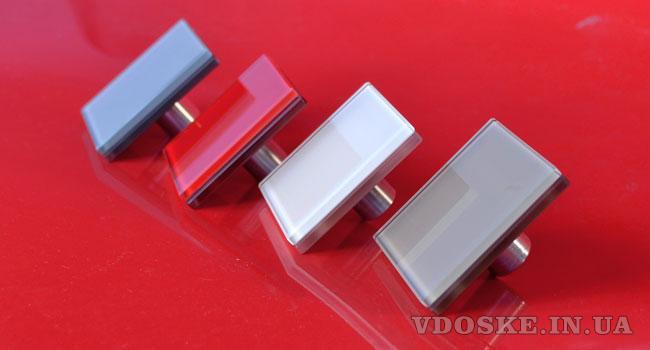 Стеклянные цветные ручки для фасадов и мебели (2)