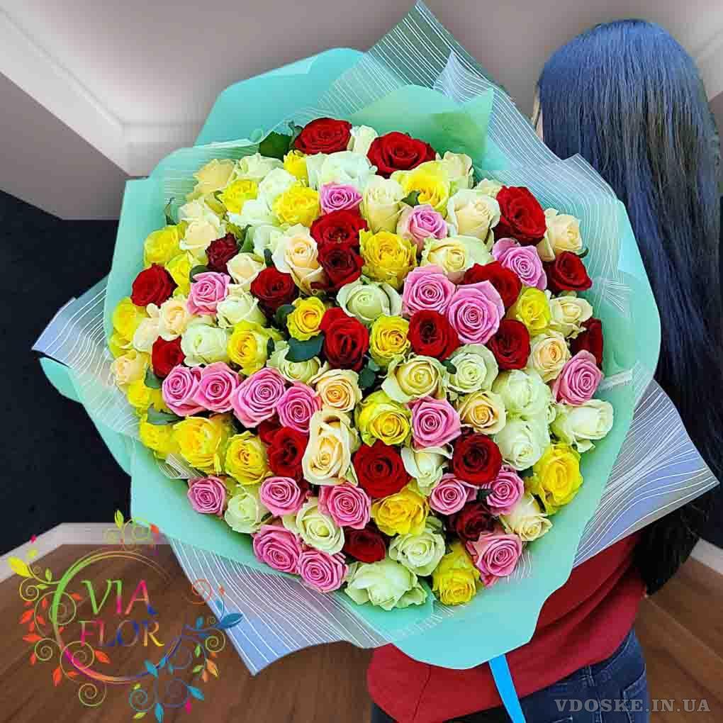 Лучший выбор букетов 101 роза в Харькове (3)