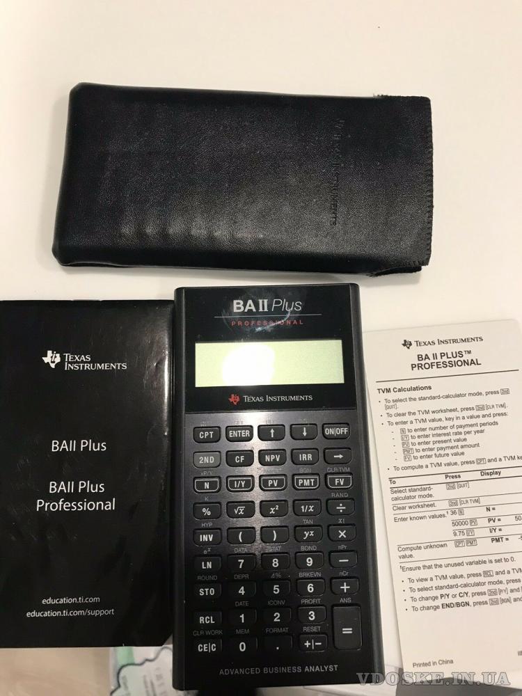 Калькулятор Texas Instruments BA II Plus Professional (4)