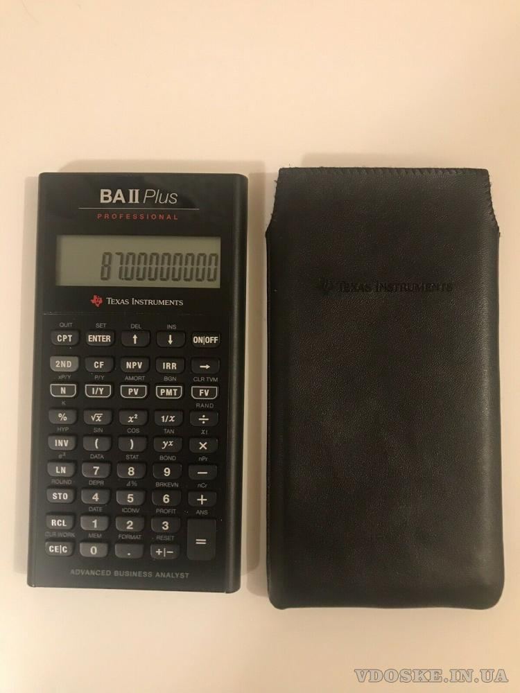 Калькулятор Texas Instruments BA II Plus Professional (3)