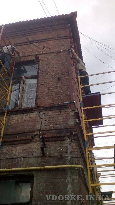 Стяжка и укрепление стен домов (3)