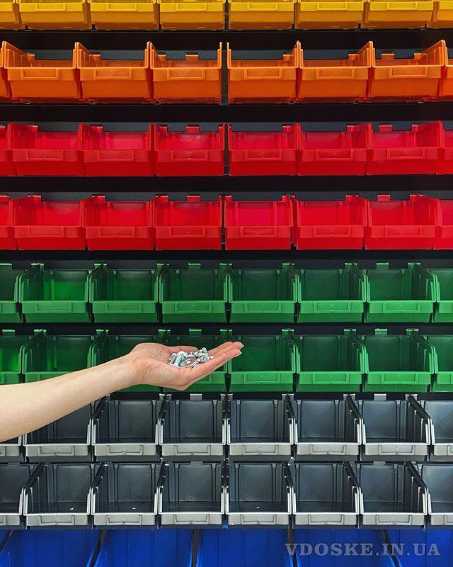 Стеллажи для метизов Днепр металлические складские стеллажи с ящиками (4)
