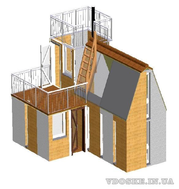 Швидко споруджуєма будівля зборного розборного типу. Модульний дім (3)
