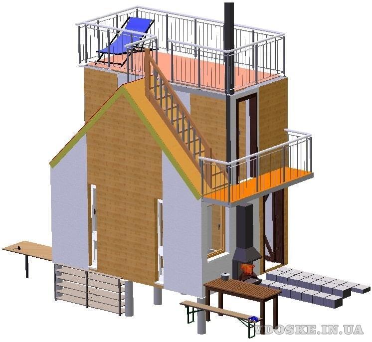 Швидко споруджуєма будівля зборного розборного типу. Модульний дім (4)