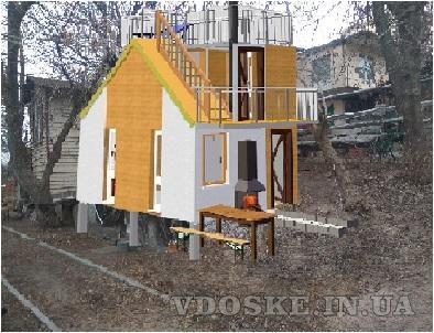Швидко споруджуєма будівля зборного розборного типу. Модульний дім (5)