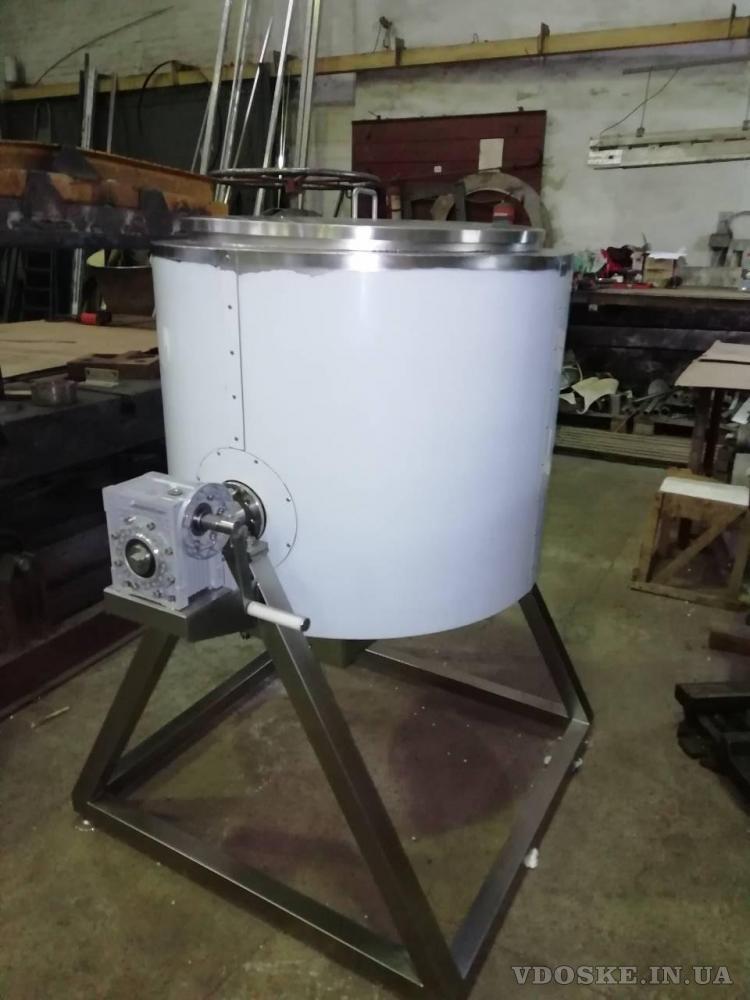 Смеситель-измельчитель для однородного смешивания сыпучих с жидкими компонентами (2)