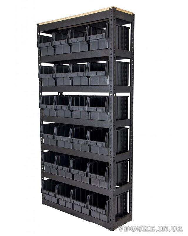 Стелажі для метизів Луцьк металеві складські стелажі з ящиками (3)