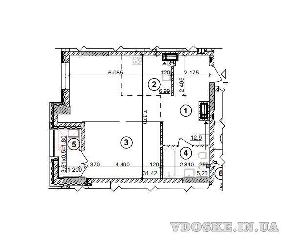 Продажаквартиры Киев. Однокомнатная квартира 58 кв.м. (2)