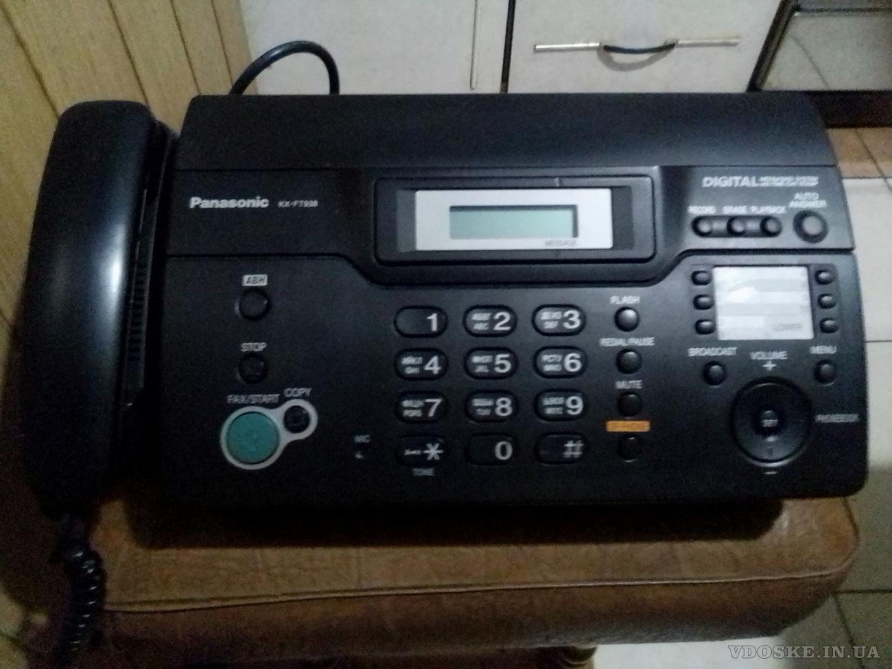 Телефон/факс Panasonic KX-FT938. (2)
