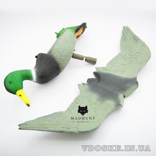 Селезень летящий на пружине. селезень с крыльями (4)
