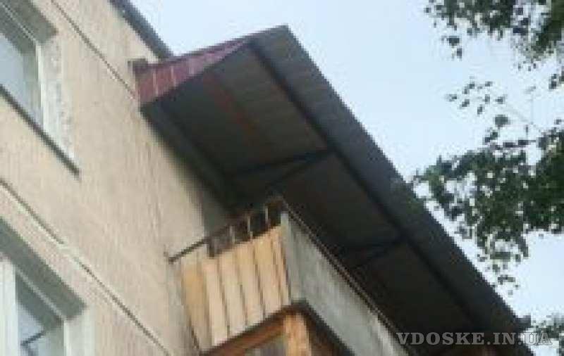 Кровельщики. Ремонт козырька и крыши балкона. (2)
