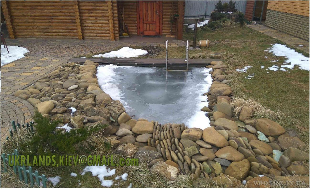 Купальне Озеро Декоративні водойми, пруд с водопадом, рибалка в подвірї (2)