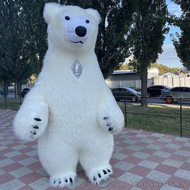 Начните продвижение с надувным костюмом белого медведя (3)