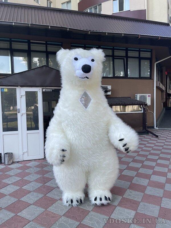 Начните продвижение с надувным костюмом белого медведя (4)
