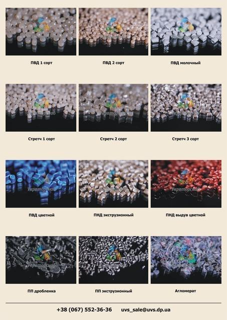 Вторичная гранула различного вида, доступная цена