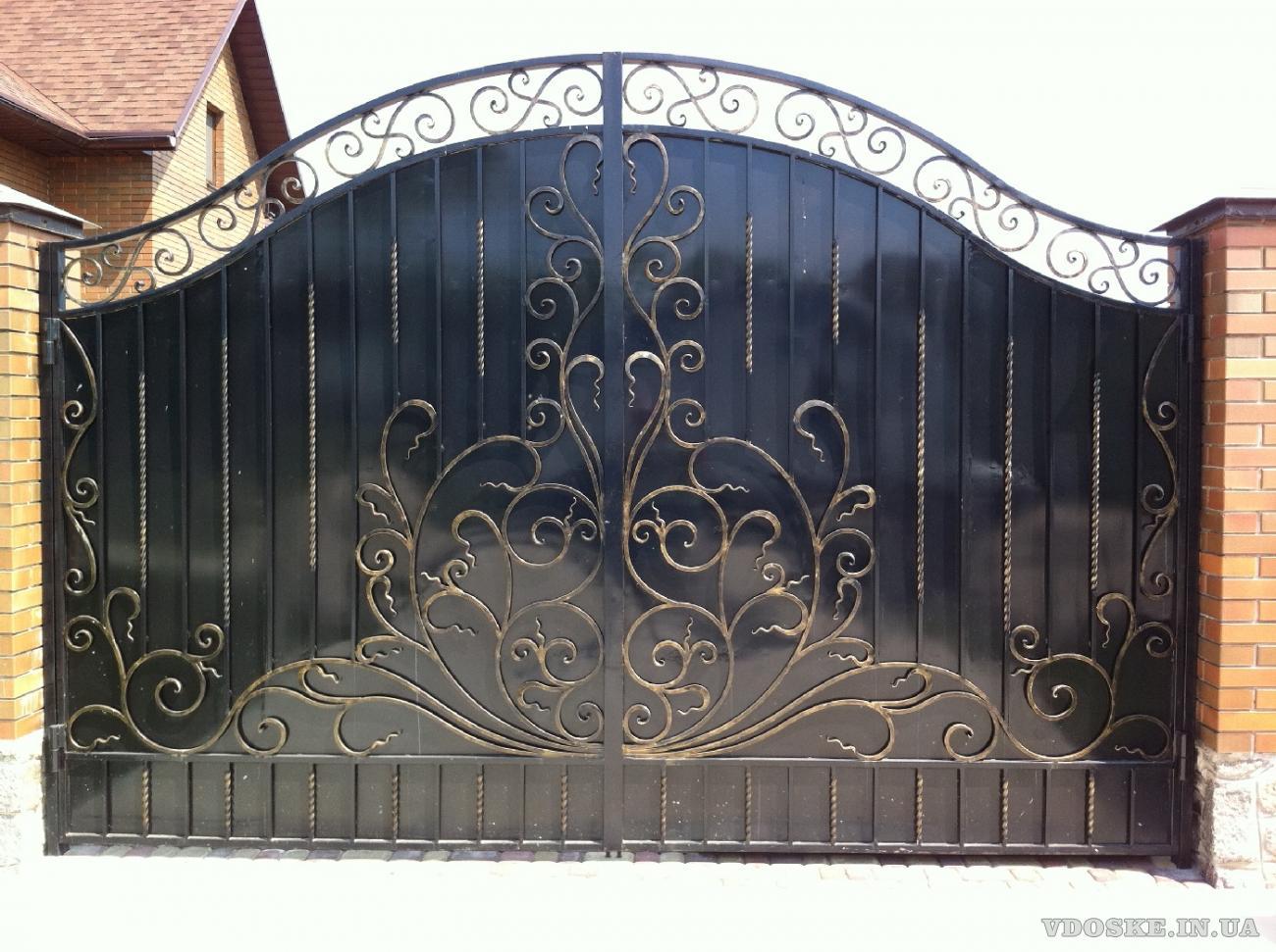 Кованые ворота, заборы  Полтава. Художественная ковка