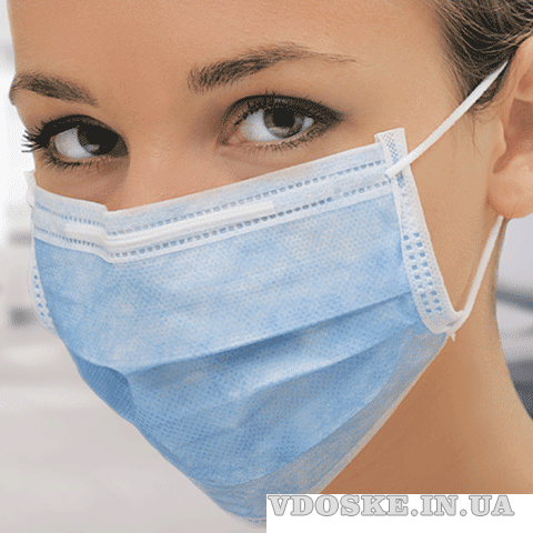 Индивидуальные защитные трёхслойные маски. Продам медицинские маски