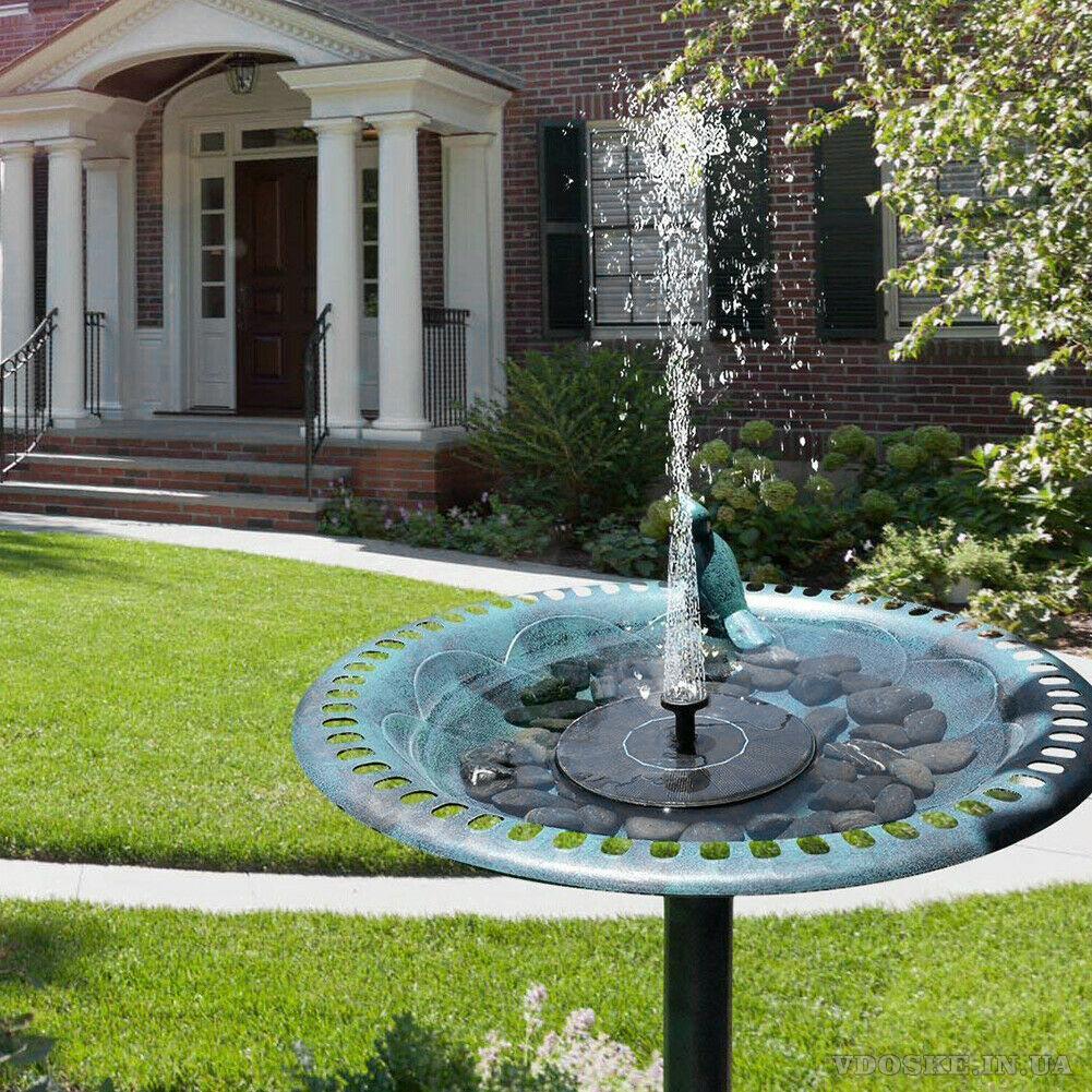 Садовый фонтанчик на солнечной энергии