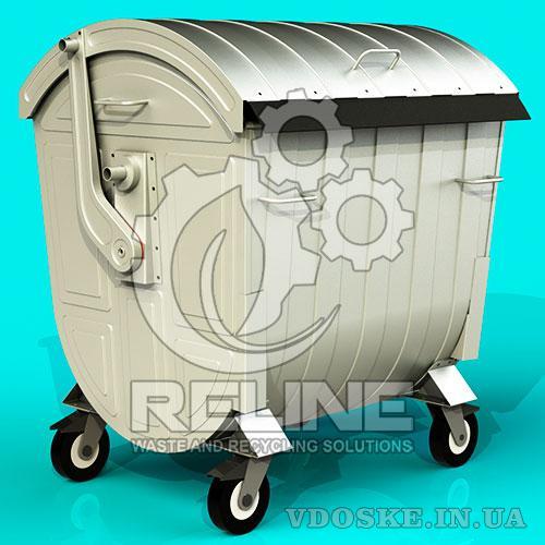 Евроконтейнер для сміття 1100л оцинкований бак