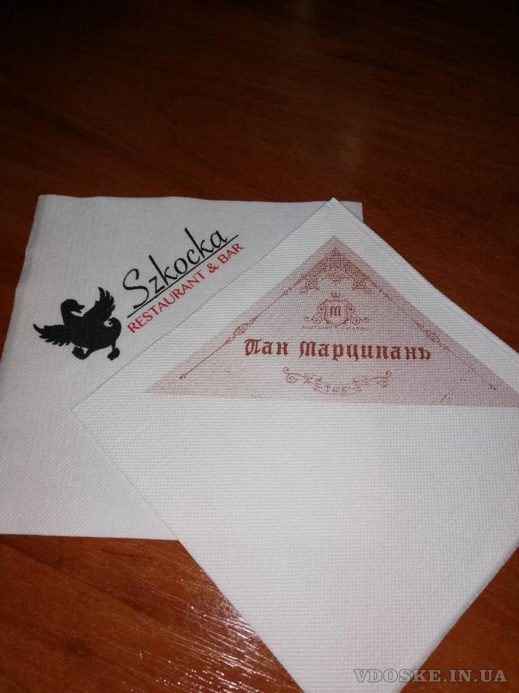 """Салфетки и крафтовые  пакеты """"соше"""" от производителя с логотипом Вашей компании"""