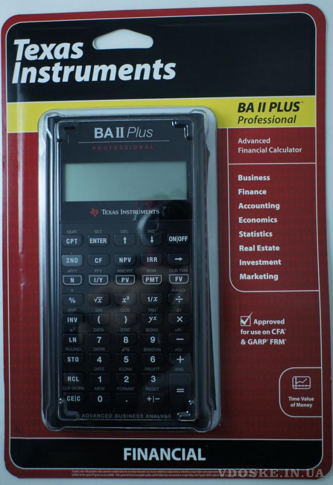 Калькулятор Texas Instruments BA II Plus Professional
