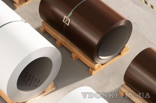 Оцинкованная рулонная сталь с полимерным покрытием