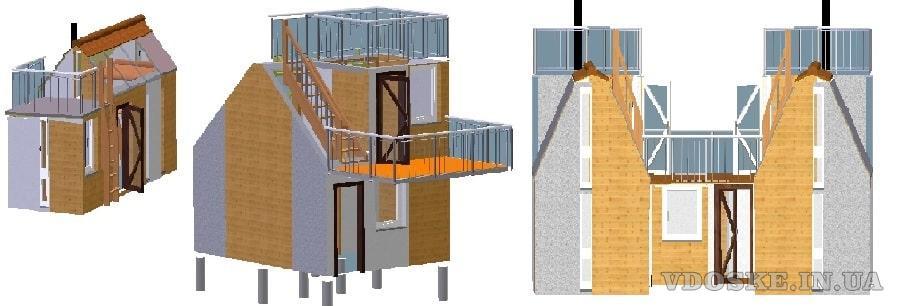 Швидко споруджуєма будівля зборного розборного типу. Модульний дім