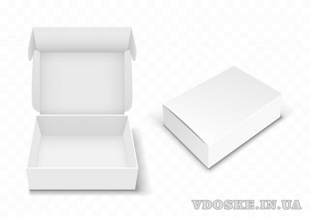 Производство картонной упаковки. Картонные коробочки. Типография.